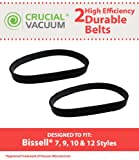 Bissell Style 7 9 10 12 Vacuum Cleaner Belts Style 7/9/10/12 Pack of 2; Replaces Part # 32074; Designed & Engineered By Crucial Vacuum