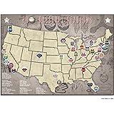 Professional Baseball Parks Teams Location Map, 24x18
