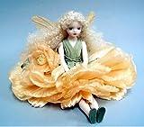 若月まり子ビスクドール お花の妖精 エルフィンフローリー:オールド・ローズ(イエロー)