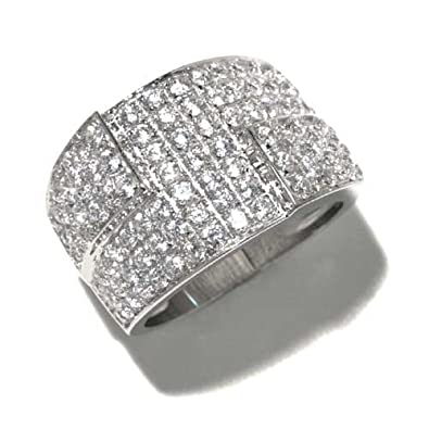 Gioie Women's Ring in White 925 Sterling Silver with White Cubic Zirconia
