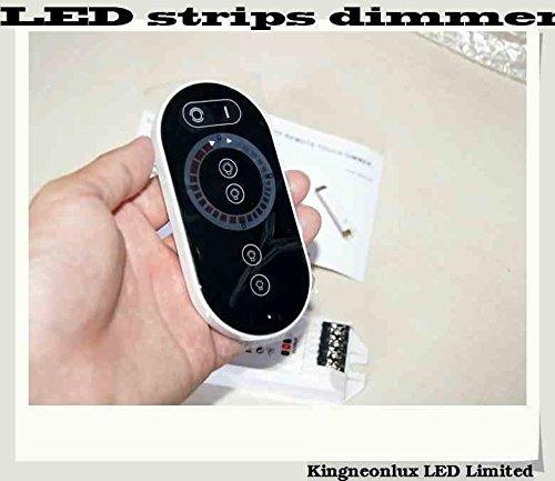 Ems Shipping 12Pcs Led Strip Color Temperature Dimmer Rf Touch Panel Dimmer 24V 12V Brightness Controller Tdc03