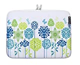 Caseling Neoprene Sleeve Pouch Case Bag for 13 - 13.3 Inch Laptop Computer. Designed to fit any laptop / Notebook / Ultrabook / Macbook with Display size 13-13.3 inches. Like for Apple MacBook Air / MacBook Pro / Powerbook / iBook. ASUS Chromebook /Transformer Book / Flip / ROG / Zenbook. Acer Aspire, Dell Inspiron / Latitude / Notebook. HP Chromebook / Elitebook / Envy / Pavilion / Stream. Lenovo ThinkPad Edge / Flex / Yoga. Samsung / Toshiba Chromebook / Satellite. - Blue Green Flowers