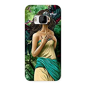 Cute True Angel Multicolor Back Case Cover for HTC One M9