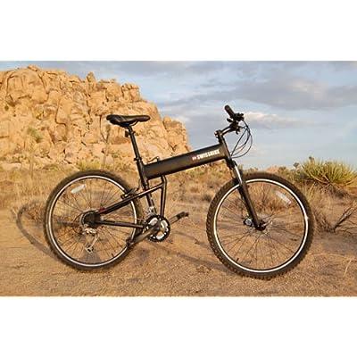 "SwissBike LX Aluminum Folding Mountain Bike (18"" Fram) _Matt Black 51Dt6VQKO3L._SS400_"