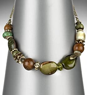 Assorted Forest Stone Collar Necklace
