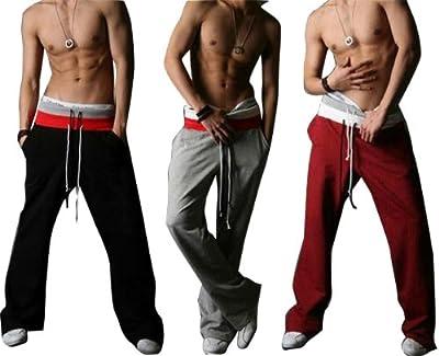 Gaorui Men Casual Sport Sweat Pants Harem Training Dance Baggy Jogging Trousers Slacks