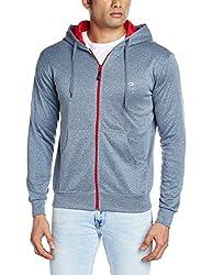 Proline Men's Poly Cotton Sweatshirt (8907007164495_PA09439_X Large_Navy Marl)