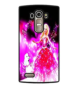PrintDhaba Fairy Barbie D-1046 Back Case Cover for LG G4 (Multi-Coloured)