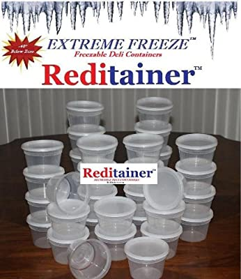 Extreme Freeze Reditainer 16 oz. Freezeable Deli Food Containers w/ Lids - Pack of 36 from Reditainer