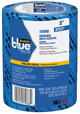 3M ScotchBlue 2090 Masking/Painter's Tape - 1.88 in Width - Packaging Type: Value Pack - 31888 [PRICE is per PACK]