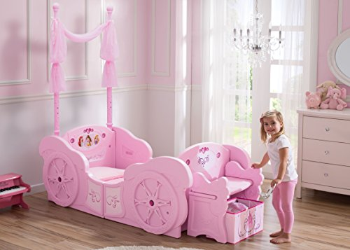 Toddler Bed For Girl Princess: Delta Children Disney Princess Carriage Toddler-to-Twin