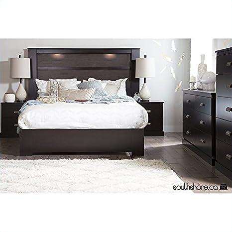 South Shore Gloria 3PC Queen Platform Bedroom Set in Chocolate