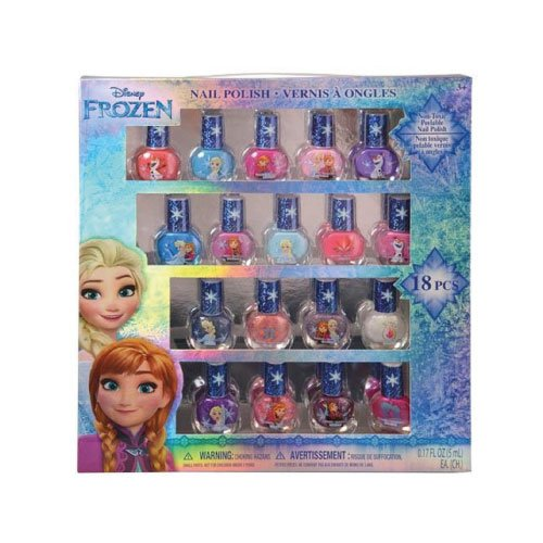 Disney-FZ0655SA-Frozen-Best-Peel-Off-Nail-Polish-Deluxe-Gift-Set-for-Kids-18-Colors
