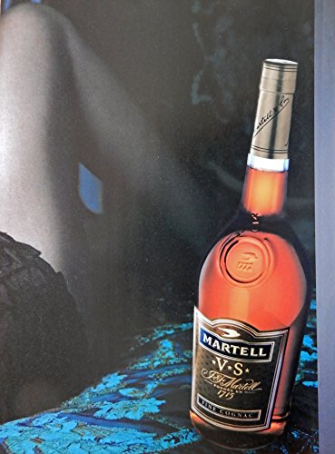 martell-v-s-cognac-vintage-print-ad-color-illustrationwoman-and-bottle-original-vintage-magazine-art
