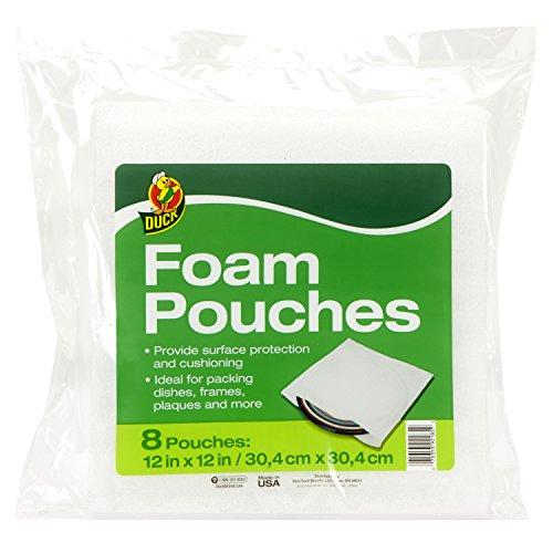 Duck Brand Foam Pouches, 12x12 Inches, 8 Pouches per Pack (281847) (Dish Wrap Foam compare prices)