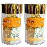 Ellips(エリプス)ヘアビタミン(50粒入)2個セット [並行輸入品][海外直送品] イエロー