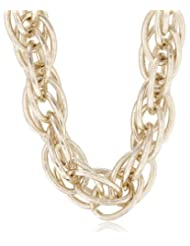 Aquamarine Chain Necklace For Women (Golden) (AQ_54)