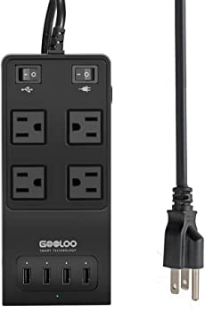 Gooloo 40-watt Portable Surge Power Strip