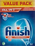 Finish Powerball All In 1 Dishwasher Tabs Value Pack - 52 Tablets