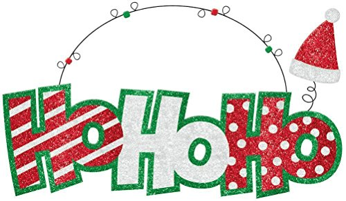 Ho Ho Ho Large Christmas Glitter Sign