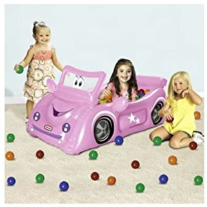 Little Tikes Pink Sports Car Play Center Ball Pit with - 25 Balls