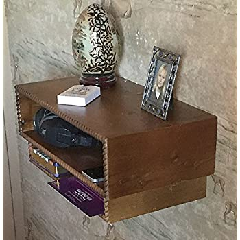 Floating Nightstand, Nightstand,Bed Side Floating Table,wall mounted nightstand ,wall hung nightstand, Made in the USA