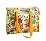 Blue Q Flower Field Shoulder Tote