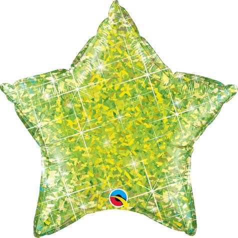 "20"" Lime Holographic Star"