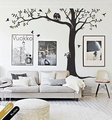 Creative Nursery Or Living Room Decoration Decal With Birds And Owls - Kr081 front-502404