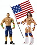 THE ULTIMATE WARRIOR & JOHN CENA W/ USA FLAG MATTEL BASIC SERIES 31 NEW IN BOX