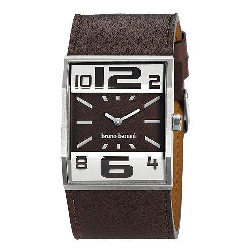 Bruno Banani Herren Uhr silber-braun Brix Uhren