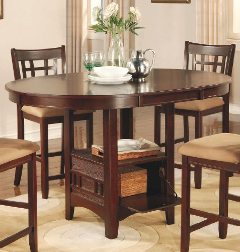 Coaster Lavon Counter Height Dining Table in Dark Cherry  : 51DtTjEl qL from www.mytimehome.com size 477 x 500 jpeg 49kB