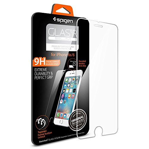 Pellicola Vetro Temperato iPhone 6s / 6 Spigen® **Easy-Install Kit** [Anti-riflesso Ultra-Clear] Ultra resistente in Pellicola vetro temperato iPhone 6 / 6s, Pellicola Protettiva iPhone 6s / 6 SGP11588
