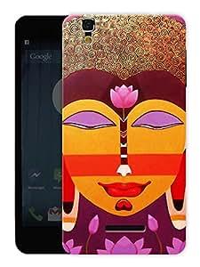 "Humor Gang Buddha Abstract - Buddhist God Printed Designer Mobile Back Cover For ""Yu Yureka Plus"" (3D, Matte, Premium Quality Snap On Case)"