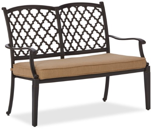 Strathwood Whidbey Cast-Aluminum 2-Seater Bench