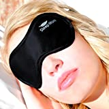 Sleep Mask,(SMALL-Med Size) Sleeping Mask, for Men or Women. A Quality BLACK Satin Travel Mask and Natural Rest Aid for Sleep Disorders & Insomnia