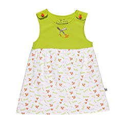 Buzzy Unisex Olive - Printed Dress (Olive_Lime_4-6M)