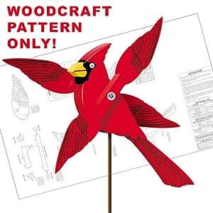 - Cardinal Whirligig Woodcraft Pattern AMZ