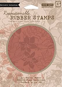 Hero arts rubber stamps large flower pattern for Rubber stamps arts and crafts