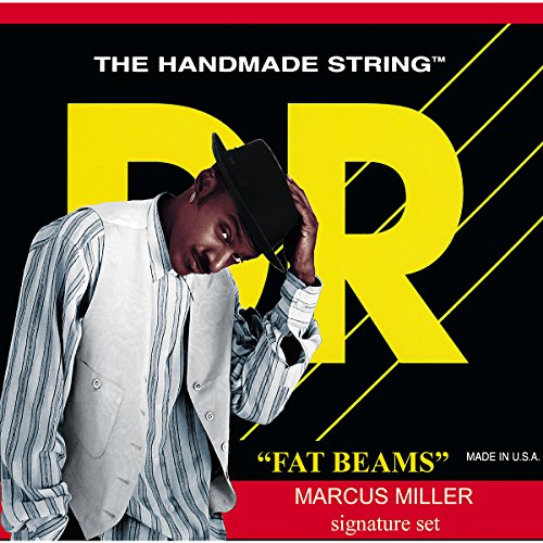Dr Strings Bass Strings Fatbeam, Marcus Miller Signature Stainless Steel Round Core 6 String Bass 30-125