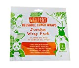 Wrapeat Reusable Food Jumbo Wrap Pack-x3 Multipack for Lunch Boxes and Lunch Bags