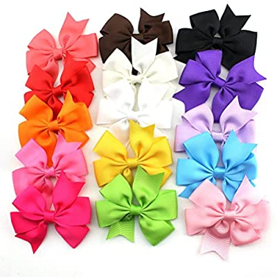 Foxnovo Hair Clips Boutique Hair Bows Clip For Girls Kids 15 Pcs