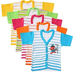 Harsha Boy's Henley Neck Half Sleeve T-Shirt (Multicolor_9-12 Months) (Pack of 5)
