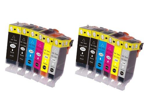 BCI-326+325/6MP  6色セット×2パック(計12個入り) canon  互換インク ICチップ付き 残量表示可  [ZAZブランドオリジナル] Amazon認定FFPパッケージ(H)