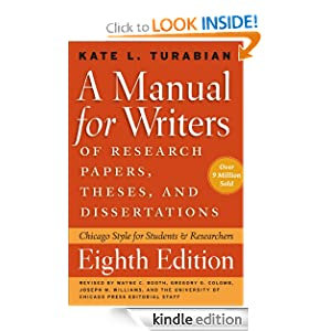 style guide for research papers and dissertations