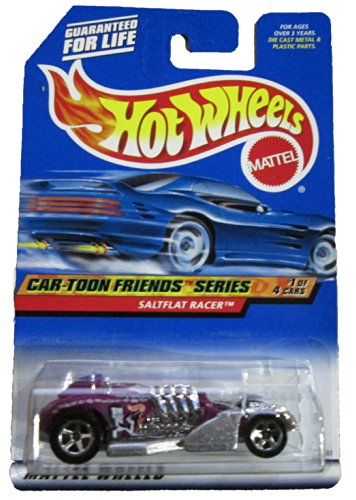 Mattel Hot Wheels 1999 1:64 Scale Car-Toon Series Purple Saltflat Racer Die Cast Car 1/4