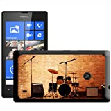 Fancy A Snuggle Warm Up Ready Drum Set and Amplifiers Hard Case Clip On Back Cover for Nokia Lumia 520