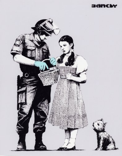 BANKSY ART Poster PRINT (Stop and Search) Poster 11.7