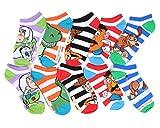 Disney Toy Story Striped No-Show Socks 5 Pair