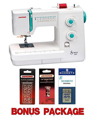 Janome Sewist 500 Sewing Machine w/3- Piece Bonus Kit (Janome Sewist 500 compare prices)
